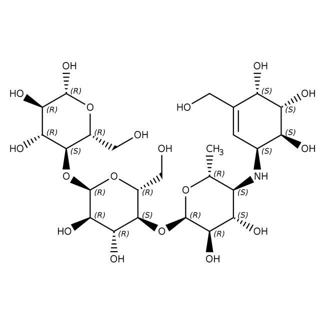 Acarbose, 95%, Acros Organics™ 5g Acarbose, 95%, Acros Organics™