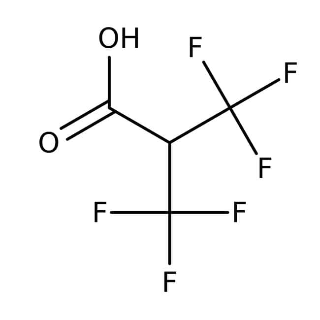 3,3,3-Trifluoro-2-(trifluoromethyl)propionic acid, 97%, ACROS Organics™