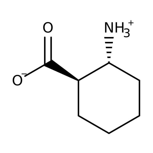trans-2-Amino-1-cyclohexanecarboxylic acid, 98%, ACROS Organics™ 5g; Glass bottle trans-2-Amino-1-cyclohexanecarboxylic acid, 98%, ACROS Organics™