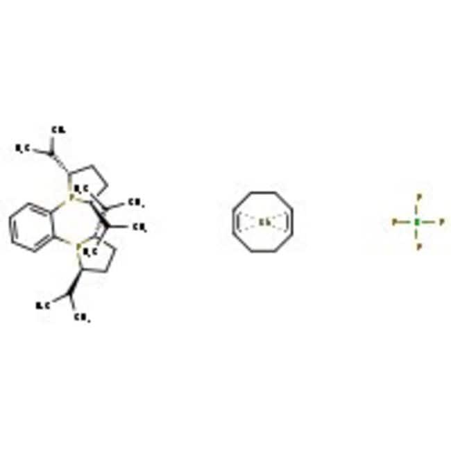 1,2-Bis((2R,5R)-2,5-diisopropylphospholano)benzene(cyclooctadiene)rhodium(I) tetrafluoroborate, 97%, ACROS Organics™