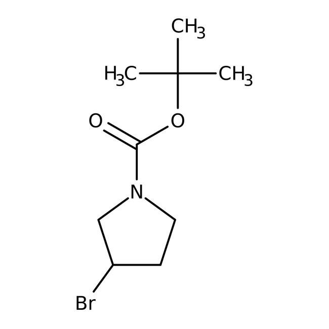 Alfa Aesar™(S)-(+)-1-Boc-3-bromopyrrolidine, 95% 1g Alfa Aesar™(S)-(+)-1-Boc-3-bromopyrrolidine, 95%