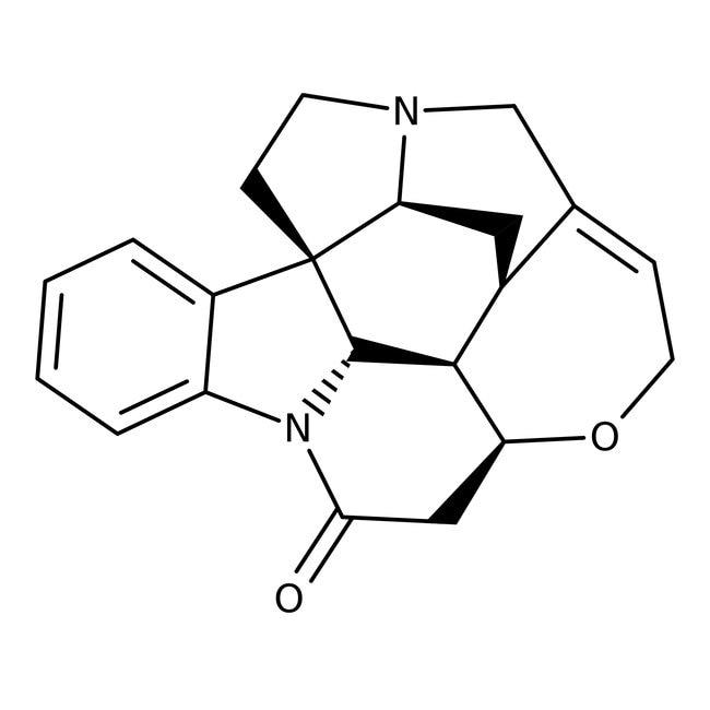(-)-Strychnine, 98%, ACROS Organics™ 100g; Glass bottle (-)-Strychnine, 98%, ACROS Organics™