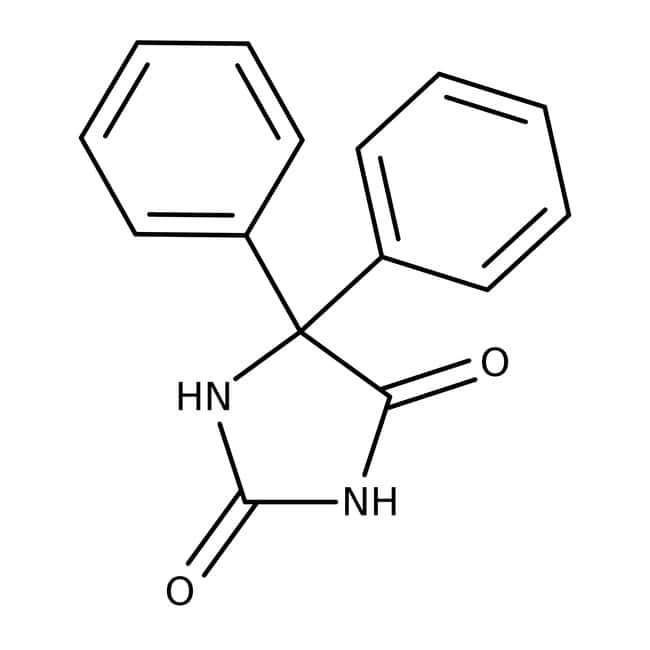 5,5-Diphenylhydantoin, 99+%, ACROS Organics™ 5g; Glass bottle 5,5-Diphenylhydantoin, 99+%, ACROS Organics™