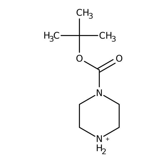 tert-Butyl 1-piperazinecarboxylate, 97%, ACROS Organics™ 25g; Glass bottle tert-Butyl 1-piperazinecarboxylate, 97%, ACROS Organics™