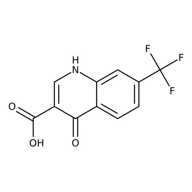 4-Hydroxy-7-trifluoromethyl-3-quinolinecarboxylic acid, 85%, Tech., ACROS Organics