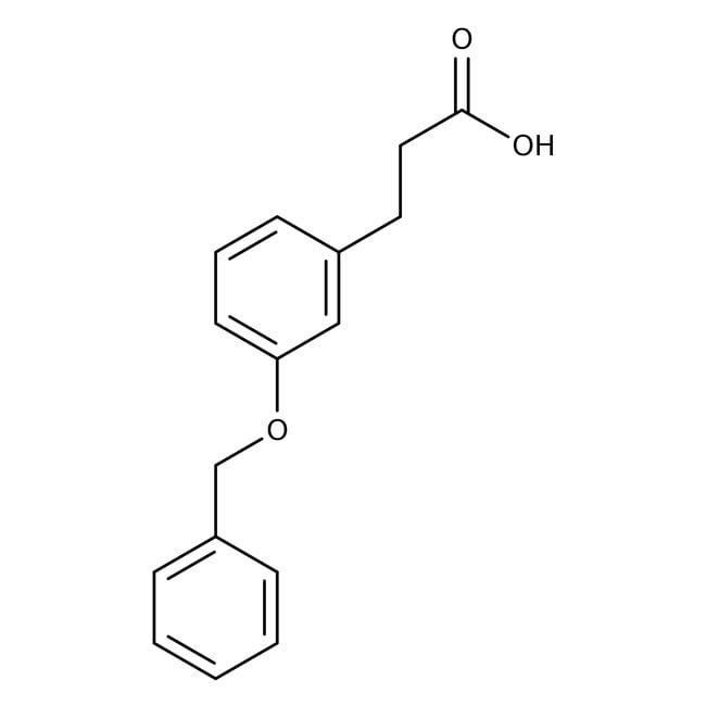 3-[3-(Benzyloxy)phenyl]propionic acid, 96%, Alfa Aesar™ 250mg 3-[3-(Benzyloxy)phenyl]propionic acid, 96%, Alfa Aesar™