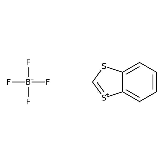 Alfa Aesar™1,3-Benzodithiolylium tetrafluoroborate, 98% 1g Alfa Aesar™1,3-Benzodithiolylium tetrafluoroborate, 98%
