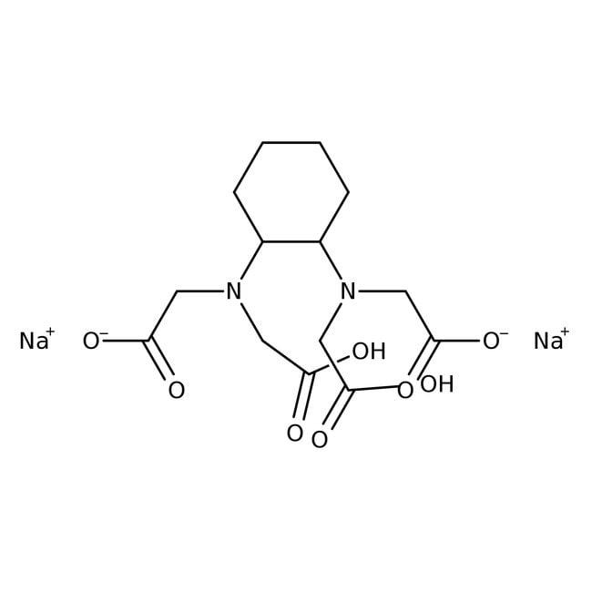 1,2-Diaminocyclohexanetetraacetic acid disodium salt solution, Honeywell Fluka™ 1L PLASTIC BOTTLE 1,2-Diaminocyclohexanetetraacetic acid disodium salt solution, Honeywell Fluka™