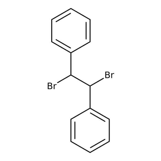 1,2-Dibromo-1,2-diphenylethane, 96%, ACROS Organics™ 25g; Glass bottle 1,2-Dibromo-1,2-diphenylethane, 96%, ACROS Organics™