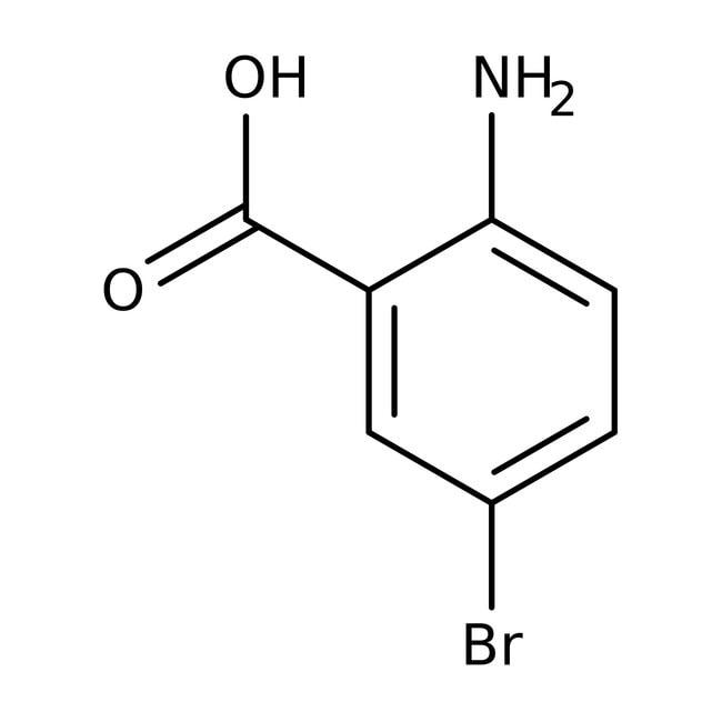 2-Amino-5-bromobenzoic acid, 97%, ACROS Organics™ 25g; Glass bottle 2-Amino-5-bromobenzoic acid, 97%, ACROS Organics™
