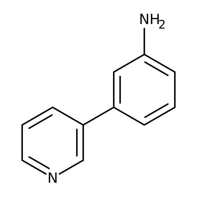 3-Pyridin-3-ylaniline, 97%, Maybridge™ Amber Glass Bottle; 250mg 3-Pyridin-3-ylaniline, 97%, Maybridge™