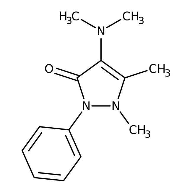 4-Diméthylaminoantipyrine, 97%, ACROS Organics™ 100g ; flacon en plastique 4-Diméthylaminoantipyrine, 97%, ACROS Organics™