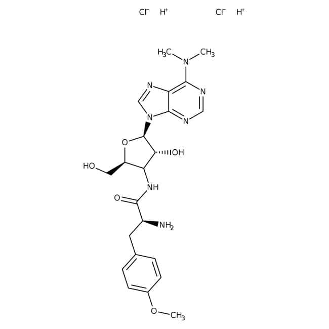 Puromycin dihydrochloride hydrate, 99%, ACROS Organics™ 250mg; Glass bottle Puromycin dihydrochloride hydrate, 99%, ACROS Organics™