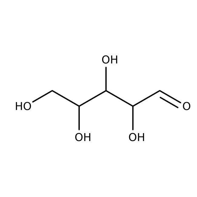 D(+)-xylose, +de 99%, ACROS Organics™ 2,5kg; flacon en plastique D(+)-xylose, +de 99%, ACROS Organics™