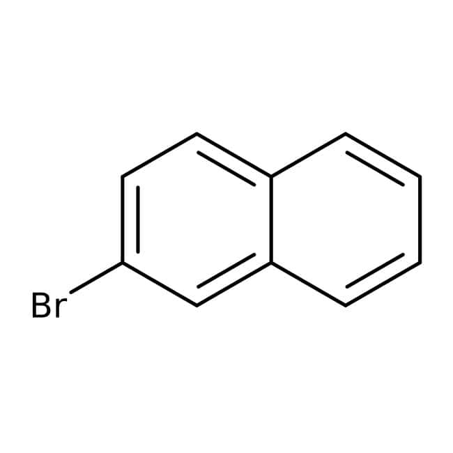2-Bromonaphthalene, 99%, ACROS Organics™ 25g; Glass bottle 2-Bromonaphthalene, 99%, ACROS Organics™