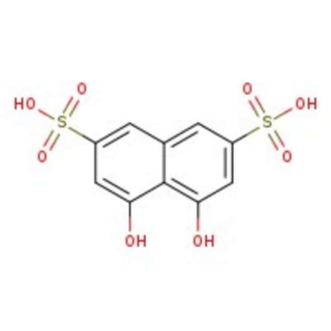4,5-Dihydroxynaphthalen-2,7-disulfonsäure, Dinatriumsalz Dihydrat, ACS Reagenz, ACROS Organics™ 100 g-Glasflasche 4,5-Dihydroxynaphthalen-2,7-disulfonsäure, Dinatriumsalz Dihydrat, ACS Reagenz, ACROS Organics™