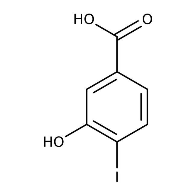 Alfa Aesar™Ácido 3-hidroxi-4-yodobenzoico, 97% 1g Alfa Aesar™Ácido 3-hidroxi-4-yodobenzoico, 97%