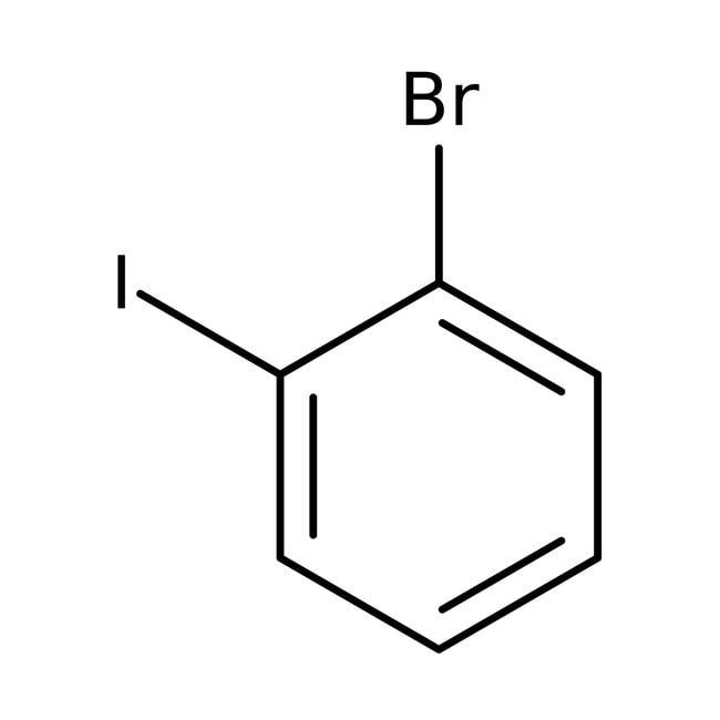 1-Bromo-2-iodobenzene, 99%, stabilized, ACROS Organics™ 5g; Glass bottle 1-Bromo-2-iodobenzene, 99%, stabilized, ACROS Organics™