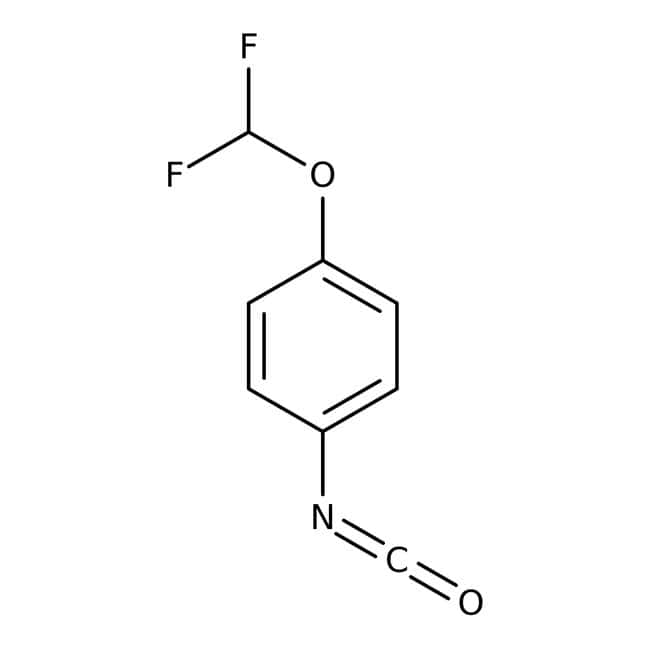4-(Difluoromethoxy)phenyl isocyanate, 99%, ACROS Organics™ 500mg; Glass bottle 4-(Difluoromethoxy)phenyl isocyanate, 99%, ACROS Organics™