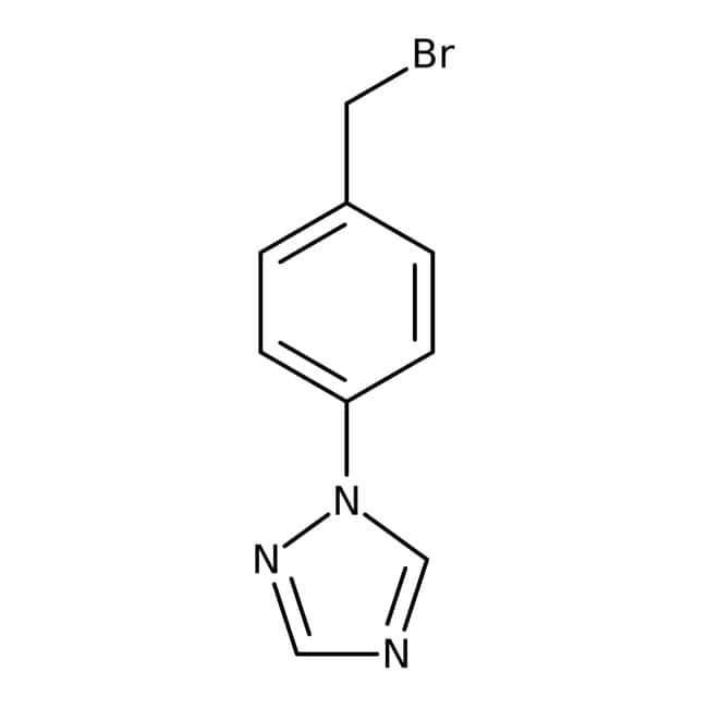 1-[4-(Bromomethyl)phenyl]-1H-1,2,4-triazole, 97%, Maybridge™ Amber Glass Bottle; 250mg 1-[4-(Bromomethyl)phenyl]-1H-1,2,4-triazole, 97%, Maybridge™