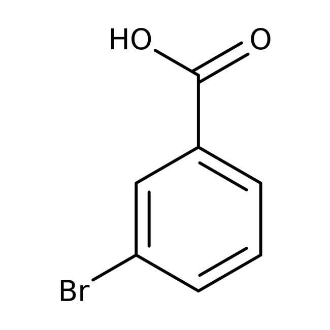 3-Bromobenzoic acid, 99%, ACROS Organics™ 25g; Plastic bottle 3-Bromobenzoic acid, 99%, ACROS Organics™