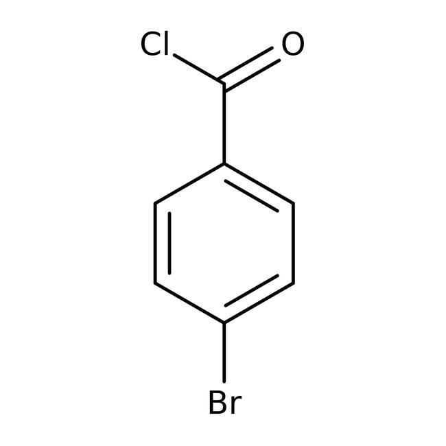 4-Bromobenzoyl chloride, 98%, ACROS Organics™ 10g; Glass bottle 4-Bromobenzoyl chloride, 98%, ACROS Organics™