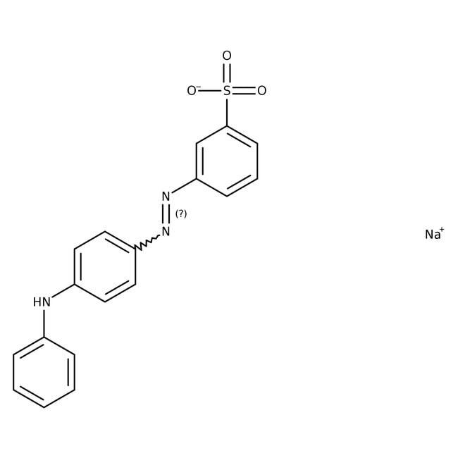 Metanil Yellow (Tech.), 85%, ACROS Organics™ 100g Metanil Yellow (Tech.), 85%, ACROS Organics™