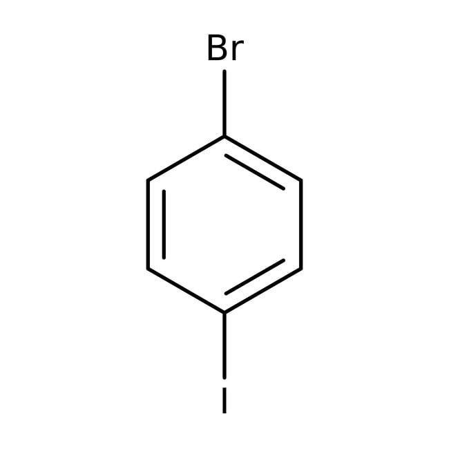 1-Bromo-4-iodobenzene, 98%, ACROS Organics™ 100g; Glass bottle 1-Bromo-4-iodobenzene, 98%, ACROS Organics™