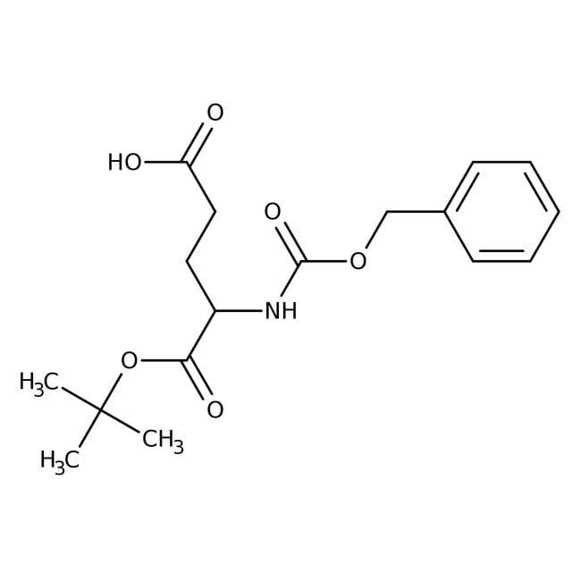 Alfa Aesar™N-Benzyloxycarbonyl-L-glutamic acid 1-tert-butyl ester, 95% 1g Alfa Aesar™N-Benzyloxycarbonyl-L-glutamic acid 1-tert-butyl ester, 95%