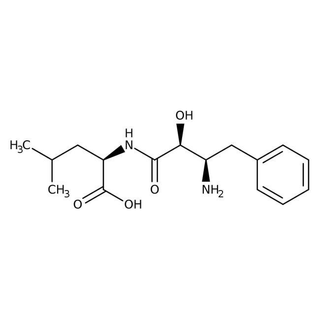 N-[(2S,3R)-3-Amino-2-hydroxy-4-phenylbutyryl]-L-leucine, 97%, Acros Organics