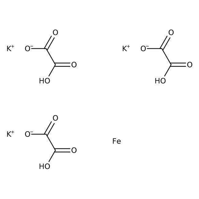 Alfa Aesar™Potassium trioxalatoferrate(III) trihydrate 5g Alfa Aesar™Potassium trioxalatoferrate(III) trihydrate