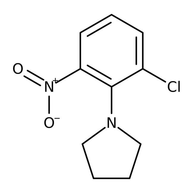 Alfa Aesar™1-(2-Chloro-6-nitrophenyl)pyrrolidine, 97% 1g Alfa Aesar™1-(2-Chloro-6-nitrophenyl)pyrrolidine, 97%