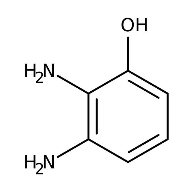 2,3-Diaminophenol, 97%, ACROS Organics™ 1g; Glass bottle 2,3-Diaminophenol, 97%, ACROS Organics™