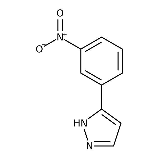 Alfa Aesar™3-(3-Nitrophenyl)-1H-Pyrazol, 97 % 500mg Alfa Aesar™3-(3-Nitrophenyl)-1H-Pyrazol, 97 %