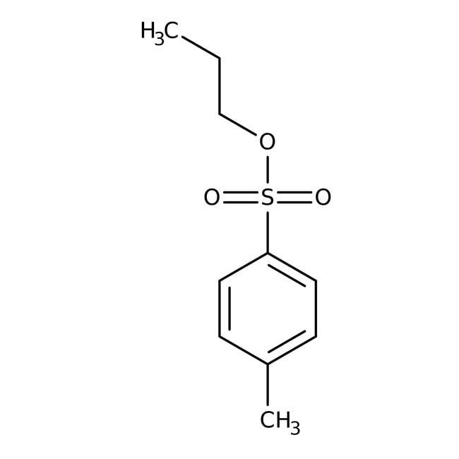 Propyl p-toluenesulfonate, 99%, Acros Organics 25g; Glass bottle Propyl p-toluenesulfonate, 99%, Acros Organics