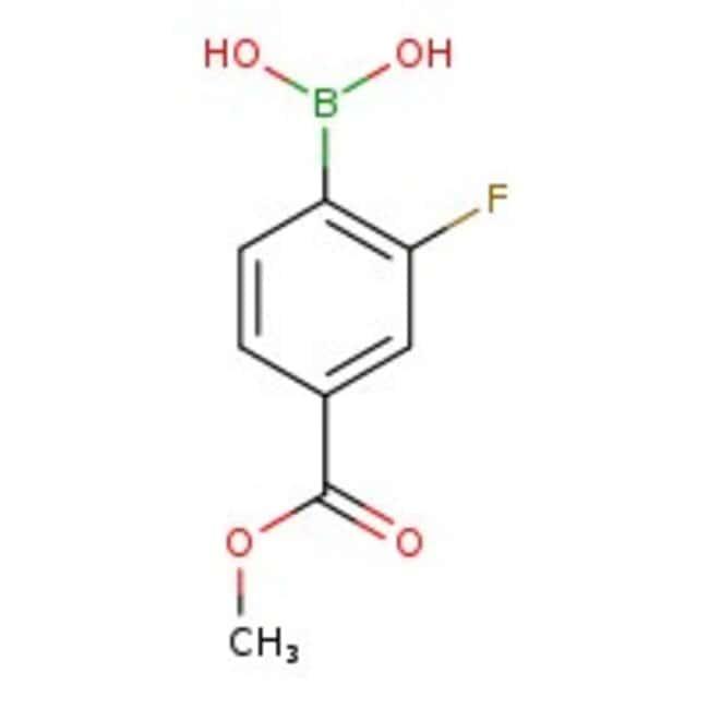 2-Fluoro-4-methoxycarbonylphenylboronic acid, 98%, ACROS Organics™  2-Fluoro-4-methoxycarbonylphenylboronic acid, 98%, ACROS Organics™