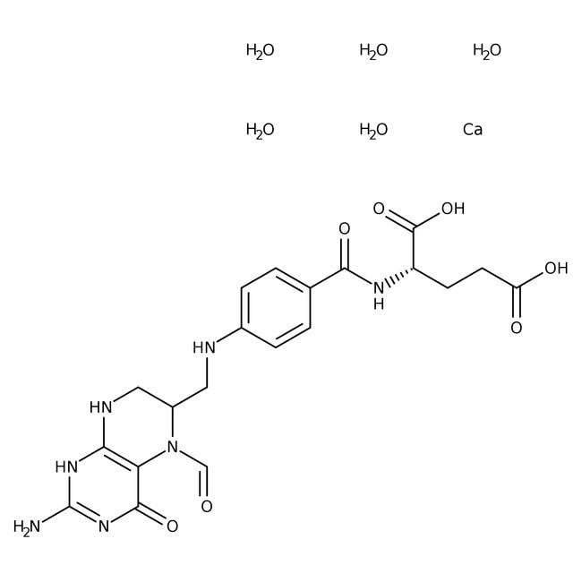 Folinic acid, calcium salt pentahydrate, 95.0-105.0%, ACROS Organics™