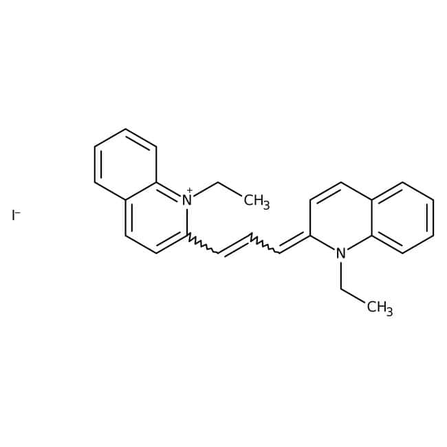 Alfa Aesar™ 1,1'-Diethyl-2,2'-carbocyanine iodide, 96%: Chemicals Products