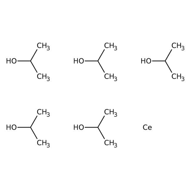 Alfa Aesar™ Cerium(IV) isopropoxide isopropanol adduct, Ce 31.5-32.4%: Organic Compounds Chemicals