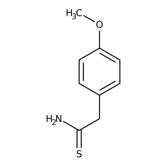 Alfa Aesar™2-(4-méthoxyphényl)thioacétamide, 97% 5g Alfa Aesar™2-(4-méthoxyphényl)thioacétamide, 97%