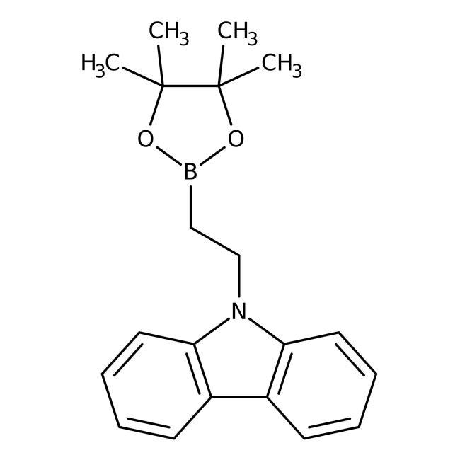 Alfa Aesar™2-(9-Carbazolyl)-ethylboronsäurepinakolester, 98% 1g Alfa Aesar™2-(9-Carbazolyl)-ethylboronsäurepinakolester, 98%