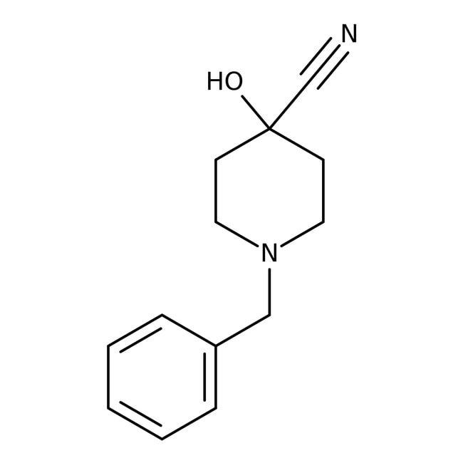 1-Benzyl-4-cyano-4-hydroxypiperidine, 98%, ACROS Organics™