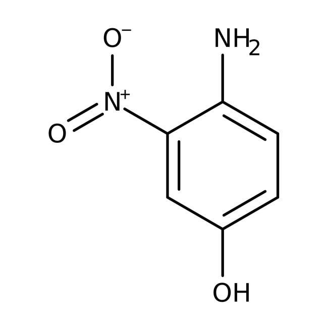 4-Amino-3-nitrophenol, 98%, ACROS Organics™ 25g; Glass bottle 4-Amino-3-nitrophenol, 98%, ACROS Organics™