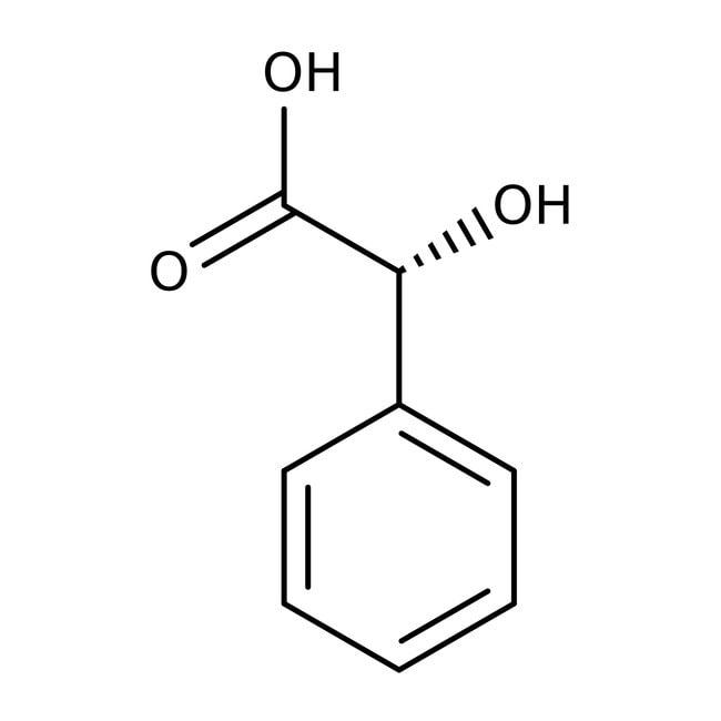 (R)-(-)-Mandelic Acid 99%, ACROS Organics™ 25g; Plastic bottle (R)-(-)-Mandelic Acid 99%, ACROS Organics™