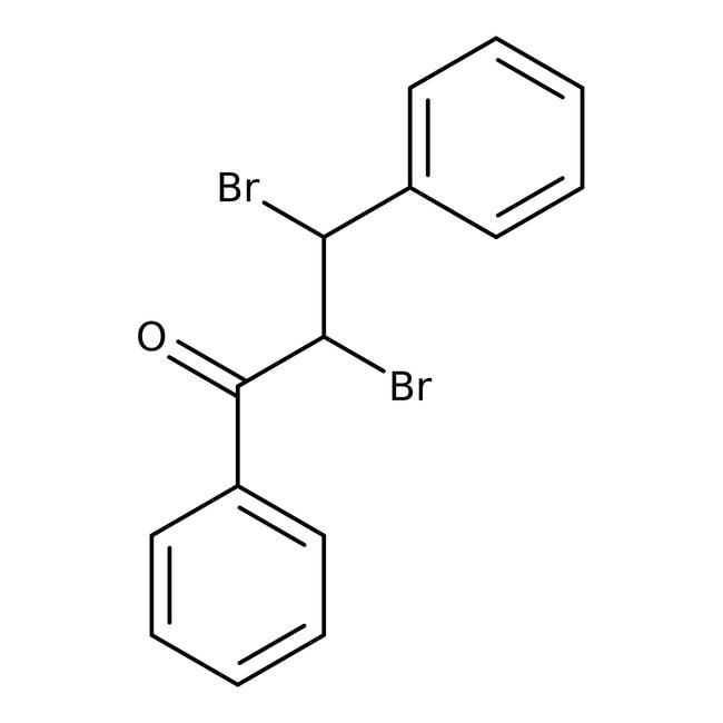 2,3-Dibromo-3-fenilpropiofenona, 98 %, ACROS Organics™ 1g, frasco de vidrio 2,3-Dibromo-3-fenilpropiofenona, 98 %, ACROS Organics™