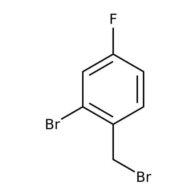 Alfa Aesar™2-Bromo-4-fluorobenzyl bromide, 96% 5g Alfa Aesar™2-Bromo-4-fluorobenzyl bromide, 96%