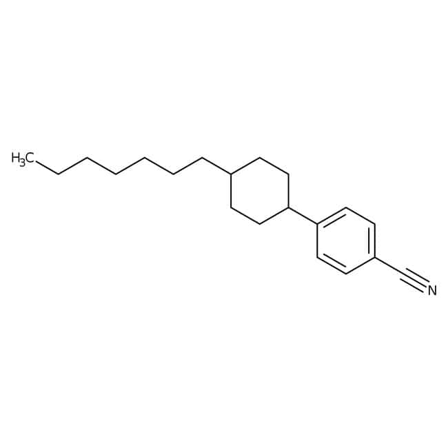 Alfa Aesar™ trans-4-(4-n-Heptylcyclohexyl)benzonitrile, 97%