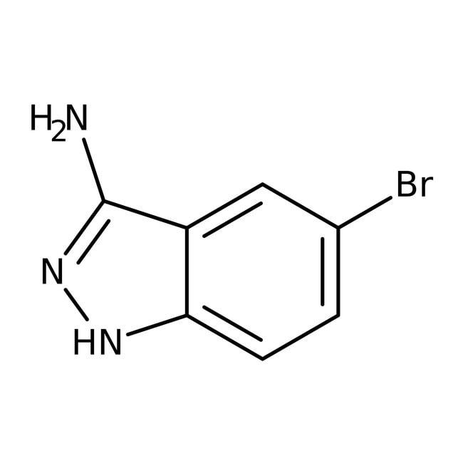 3-Amino-5-bromo-1H-indazole, 95%, ACROS Organics™ 1g; Glass bottle 3-Amino-5-bromo-1H-indazole, 95%, ACROS Organics™