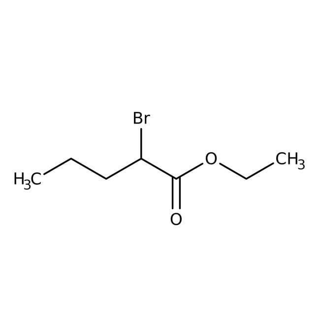 DL-Ethyl 2-bromovalerate, 99%, Acros Organics 25g; Glass bottle DL-Ethyl 2-bromovalerate, 99%, Acros Organics