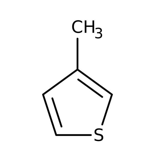 3-Methylthiophene, 99+%, ACROS Organics™ 250mL; Glass bottle 3-Methylthiophene, 99+%, ACROS Organics™